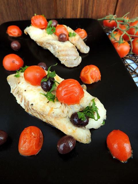 Ricetta Filetti Di Palombo Con Olive E Pomodorini Ficacci Olive Co