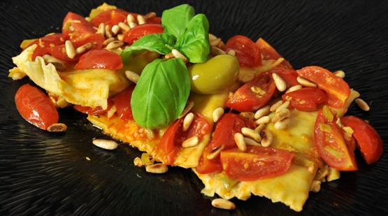 Ricetta ravioli ripieni rana pescatrice e olive cerignola for Cucinare rana pescatrice