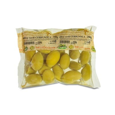 Green HUGE CERIGNOLA olives 250g - Green HUGE CERIGNOLA olives 250g