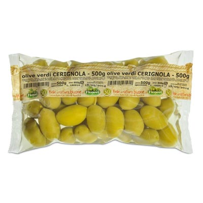 green huge CERIGNOLA olives - 500g - green huge CERIGNOLA olives - 500g
