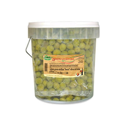 whole green sweet Castelvetrano olives , in brine 23,1lb - whole green sweet Castelvetrano olives , in brine 23,1lb