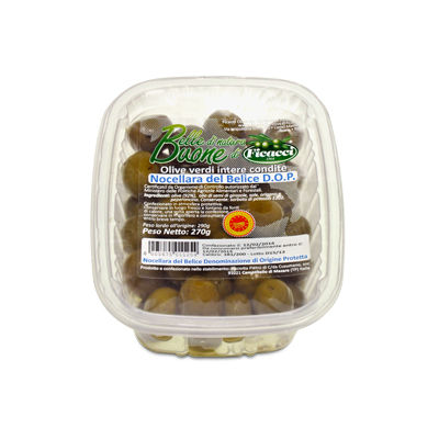 Green marinated Nocellara del Belice Olives 270g