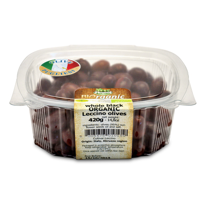 Organic Leccino Olives 420g