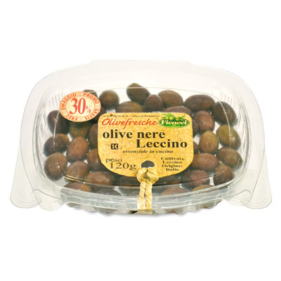 black Leccino olives 100g