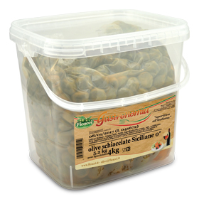 crushed green natural olives, in brine 8,8lb - crushed green natural olives, in brine 8,8lb