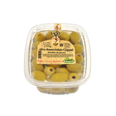 PITTED green olives - 250g - PITTED green olives - 250g