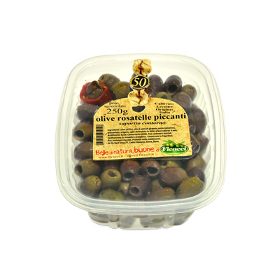 Spicy Rosatelle olives - 250g - Spicy Rosatelle olives - 250g