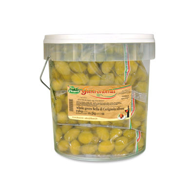 whole green huge Cerignola olives , in brine 23,1lb - whole green huge Cerignola olives , in brine 23,1lb