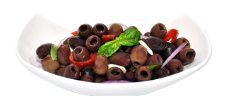 ricetta-abruzzese-con-odenleccino_abruzzese-recipe-pitted-leccino-olives-basil-peppers-onion